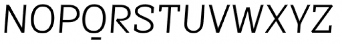 Sintesi Semi Light Italic Font UPPERCASE