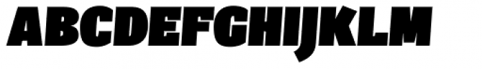 Sintesi Semi UltraBlack Italic Font UPPERCASE