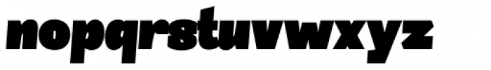 Sintesi Semi UltraBlack Italic Font LOWERCASE