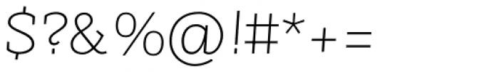 Sintesi Semi UltraLight Italic Font OTHER CHARS