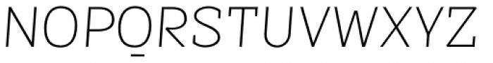 Sintesi Semi UltraLight Italic Font UPPERCASE
