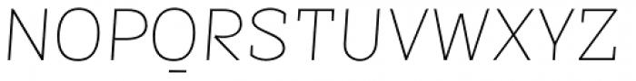 Sintesi Semi UltraThin Italic Font UPPERCASE