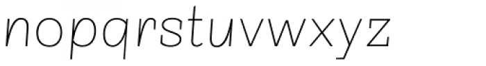 Sintesi Semi UltraThin Italic Font LOWERCASE