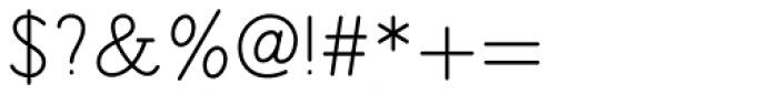 Sintix Regular Font OTHER CHARS
