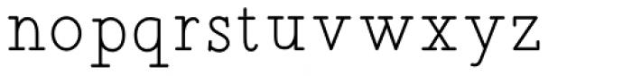 Sintix Regular Font LOWERCASE