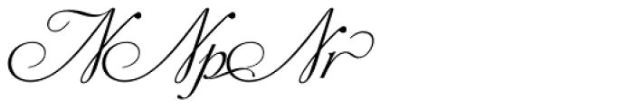 Siren Script Extras Font UPPERCASE