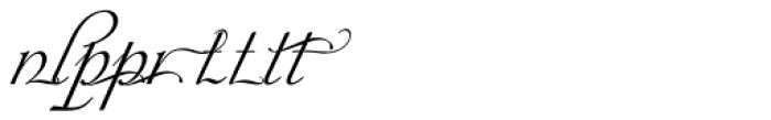 Siren Script Extras Font LOWERCASE