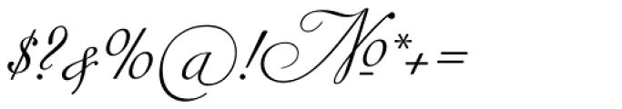 Siren Script IV Font OTHER CHARS