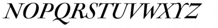 Sirenne Seventy Two MVB Italic Font UPPERCASE