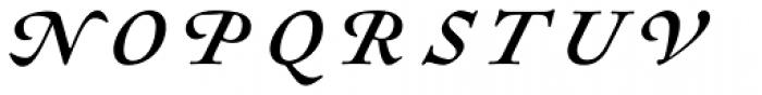 Sirenne Text MVB Swash Italic Font UPPERCASE