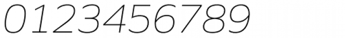 Siro Extra Light Italic Font OTHER CHARS