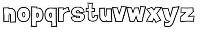 Sitcom Outline Expert Font LOWERCASE