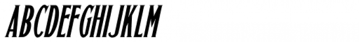 Sitting Pretty Oblique JNL Font LOWERCASE