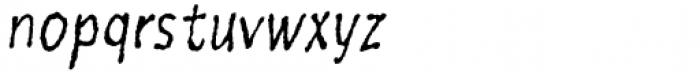Six Minutes Narrow 300 Italic Font LOWERCASE