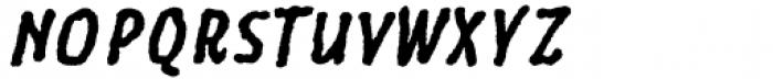 Six Minutes Narrow 700 Italic Font UPPERCASE