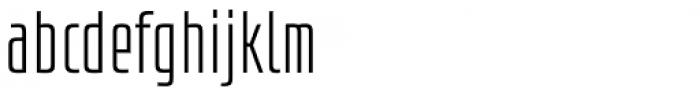 Size Light Font LOWERCASE