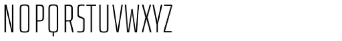 Size Thin Font UPPERCASE