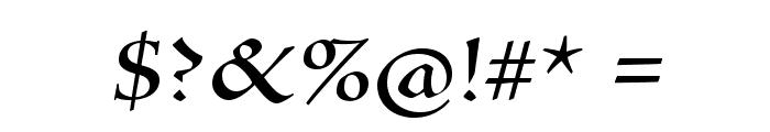 SilentiumPro-RomanI Font OTHER CHARS
