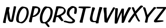 Simpson BoldItalic Font UPPERCASE