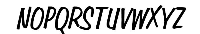 Simpson Condensed BoldItalic Font UPPERCASE