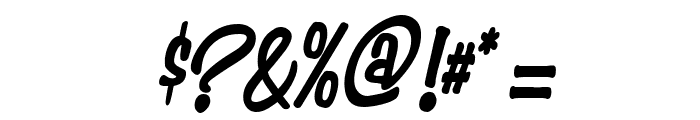 Simpson Condensed Heavy Italic Font OTHER CHARS