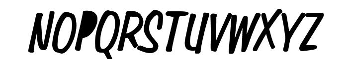 Simpson Condensed Heavy Italic Font UPPERCASE