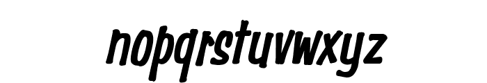 Simpson Condensed Heavy Italic Font LOWERCASE