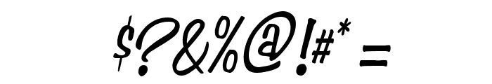 Simpson Condensed Italic Font OTHER CHARS