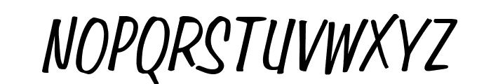Simpson Condensed Italic Font UPPERCASE