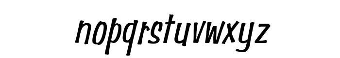 Simpson Condensed Italic Font LOWERCASE