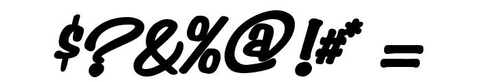 Simpson Heavy BoldItalic Font OTHER CHARS
