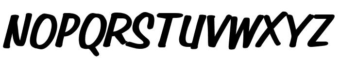 Simpson Heavy BoldItalic Font UPPERCASE