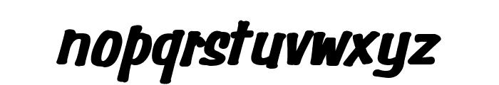 Simpson Heavy BoldItalic Font LOWERCASE