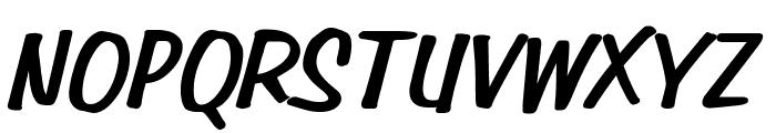 Simpson Heavy Italic Font UPPERCASE
