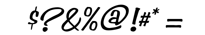 Simpson Italic Font OTHER CHARS