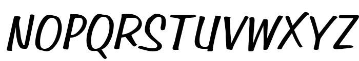 Simpson Italic Font UPPERCASE