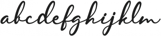 Skarlight Millagra Regular otf (300) Font LOWERCASE