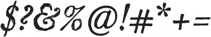 SketchCaslon Italic otf (400) Font OTHER CHARS