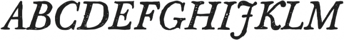 SketchCaslon Italic otf (400) Font UPPERCASE