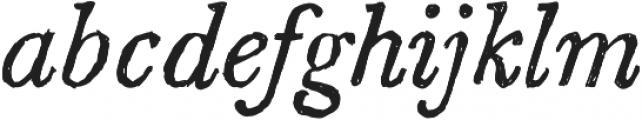 SketchCaslon Italic otf (400) Font LOWERCASE