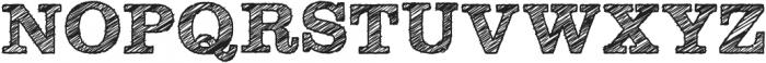 SketchSlab Bold ttf (700) Font UPPERCASE