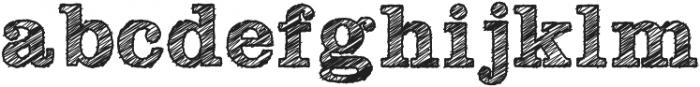 SketchSlab Bold ttf (700) Font LOWERCASE