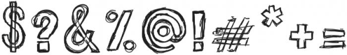 Sketchie Regular otf (400) Font OTHER CHARS