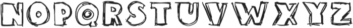 Sketchie Regular otf (400) Font UPPERCASE