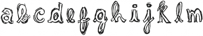 Sketchie Regular otf (400) Font LOWERCASE
