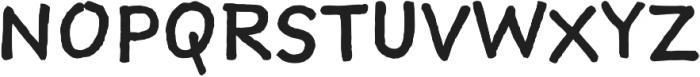 Sketchnote Text Regular otf (400) Font UPPERCASE