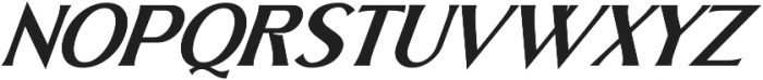 Skiff Regular Italic otf (400) Font UPPERCASE