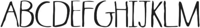Skinny ttf (400) Font UPPERCASE