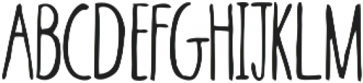 Skinny ttf (400) Font LOWERCASE