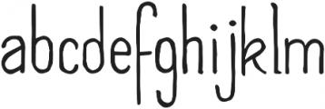 SkinnyCond ttf (400) Font LOWERCASE